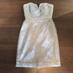 Grey, laced cocktail dress